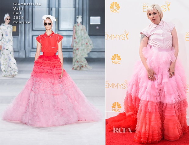 Lena-Dunham-In-Giambattista-Valli-Couture-2014-Emmy-Awards